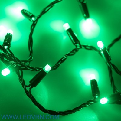 Светодиодная гирлянда ARD-STRING-CLASSIC-10000-BLACK-100LED-FLASH GREEN (230V, 7W)