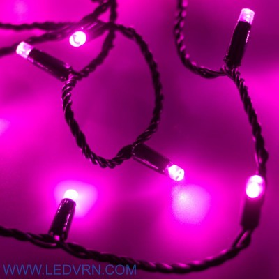 Светодиодная гирлянда ARD-STRING-CLASSIC-10000-BLACK-100LED-STD PINK (230V, 7W)